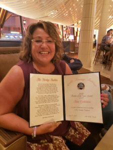 Tami Goldstein with her 2019 Teacher of the Year award