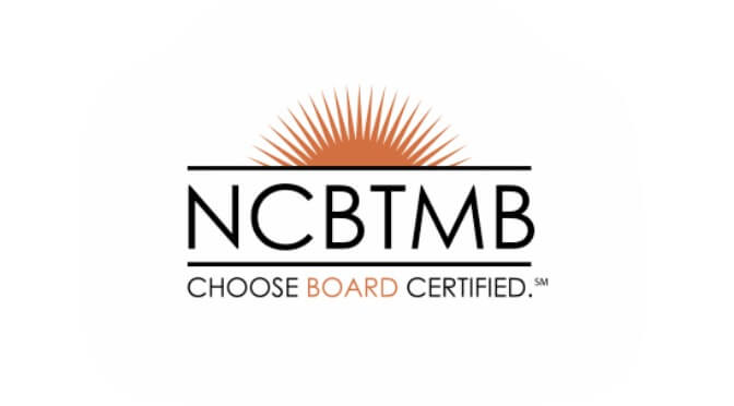 The National Certification Board for Therapeutic Massage & Bodywork logo